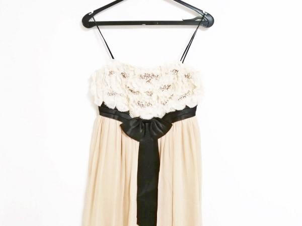 Grace Class(グレースクラス) ドレス サイズ36 S レディース ベージュ×黒 ビジュー