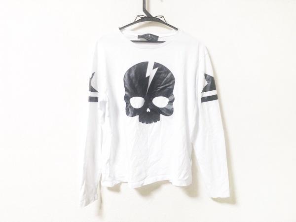 ハイドロゲン 長袖Tシャツ サイズXS レディース - - 白×黒 クルーネック/スカル