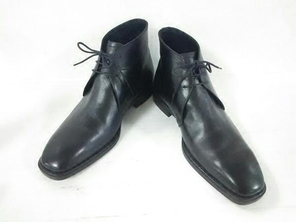 Burberry(バーバリー) ブーツ 25 1/2 メンズ 黒 レザー