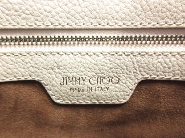 JIMMY CHOO(ジミーチュウ) トートバッグ サラM 白×黒 スターエンボス レザー