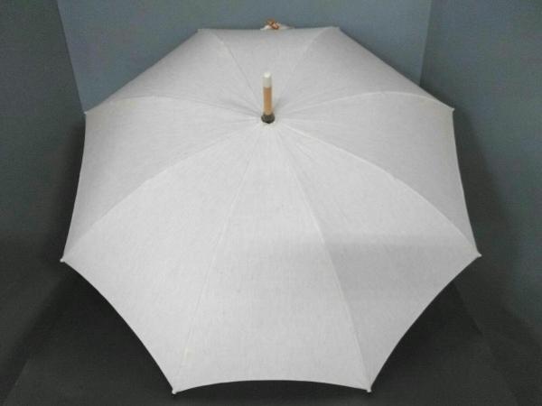 pristine(プリスティン) 日傘美品  ベージュ コットン×ウッド