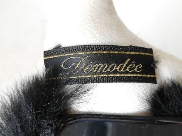Demodee(デモデ) 携帯電話ケース 黒×アイボリー×マルチ