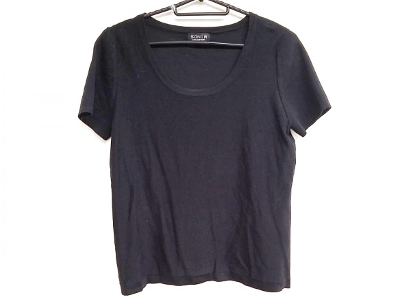 SONIARYKIEL(ソニアリキエル) 半袖セーター サイズ38 M レディース美品  黒