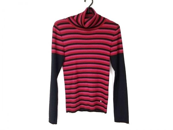 ソニアリキエル 長袖セーター サイズ38 M レディース美品  黒×レッド×ピンク