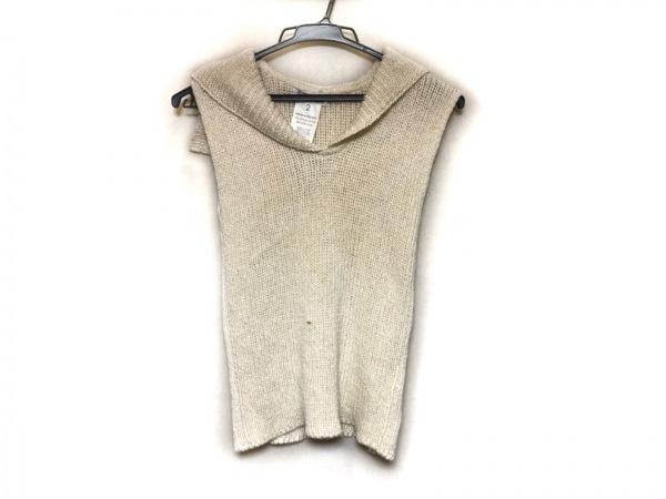agnes b(アニエスベー) ノースリーブセーター サイズ2 M レディース アイボリー