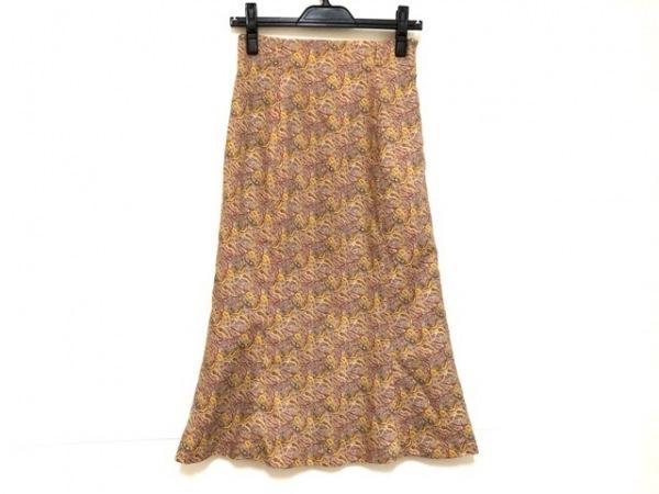 ニジュウサンク ロングスカート サイズ38 M レディース グレー×パープル×マルチ