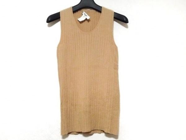 CELINE(セリーヌ) ノースリーブセーター サイズS レディース美品  ベージュ