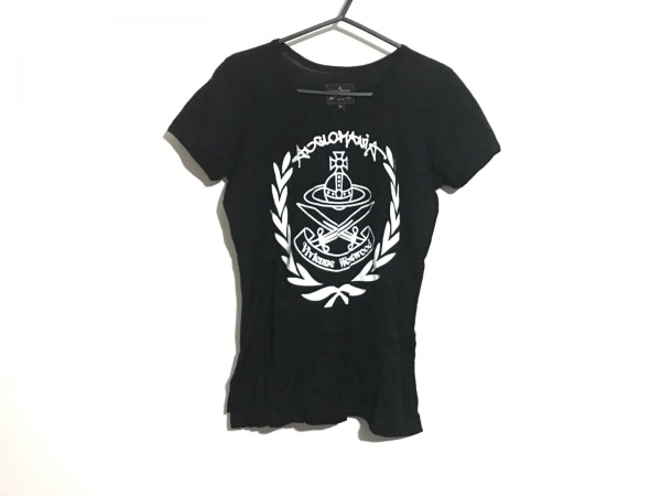 ヴィヴィアンウエストウッドアングロマニア 半袖Tシャツ サイズM レディース 黒×白