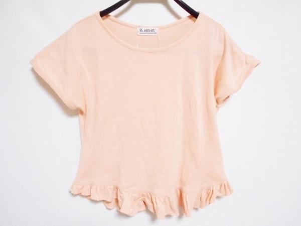 EL MIDAS(エルミダ) 半袖Tシャツ サイズ10 L レディース ピンクベージュ フリル