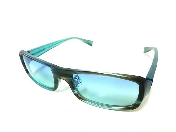 ALAIN MIKLI(アランミクリ) サングラス A0408-01 グリーンブルー プラスチック