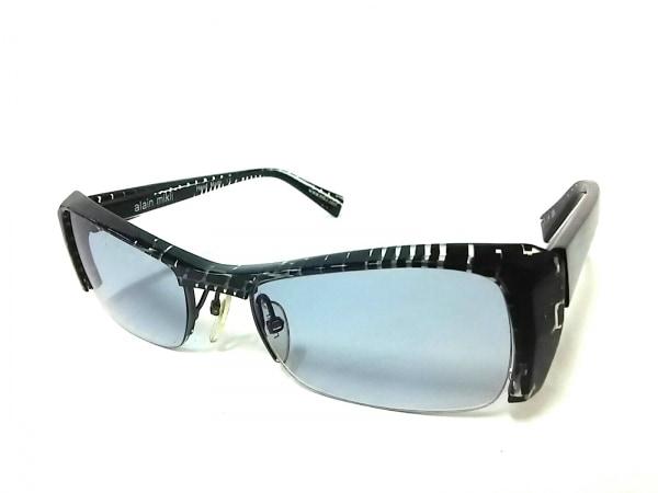 ALAIN MIKLI(アランミクリ) サングラス A0635 ライトブルー×黒×クリア プラスチック