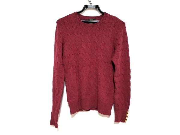 ラルフローレンラグビー 長袖セーター サイズM レディース美品  レッド