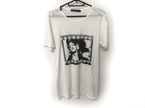 ドルチェアンドガッバーナ 半袖Tシャツ サイズ44 S メンズ 白×黒×グレー