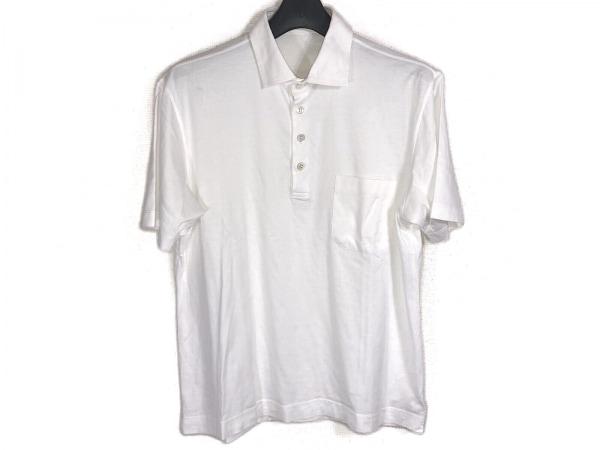 ErmenegildoZegna(ゼニア) 半袖ポロシャツ サイズS/48 メンズ 白