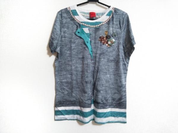 ポールスミスプラス 半袖Tシャツ サイズXXL XL レディース美品  グレー×マルチ