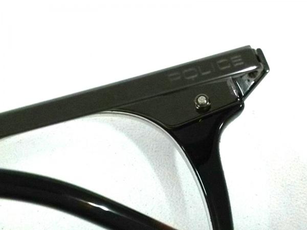 POLICE(ポリス) メガネ美品  VPL044 クリア×ダークブラウン×シルバー 度入り