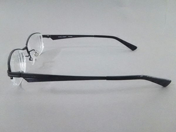 POLICE(ポリス) メガネ美品  VPL547J クリア×黒 度入り プラスチック×金属素材
