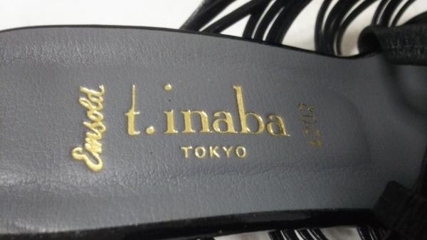 t.inaba(ティーイナバ) サンダル L レディース新品同様  黒 編みこみ