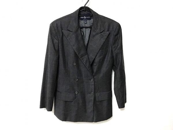 ラルフローレン ジャケット サイズ4 S レディース美品  ダークグレー×ブルー