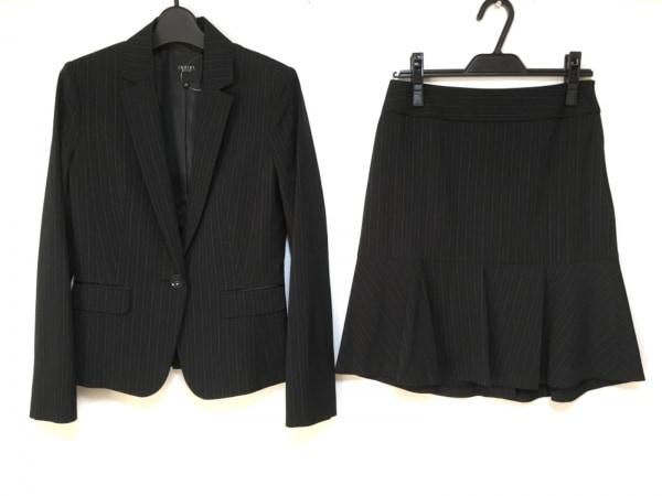 インディビ スカートスーツ サイズ36 S レディース美品  黒×ライトグレー×グレー