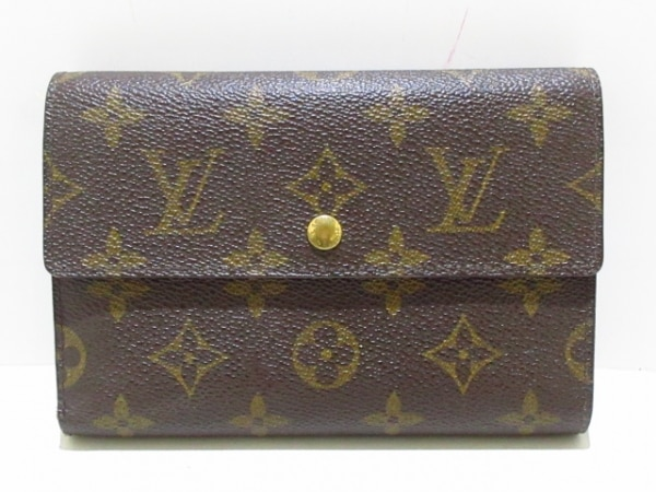 ルイヴィトン 3つ折り財布 モノグラム美品  ポルト トレゾー・エテュイ パピエ M61202