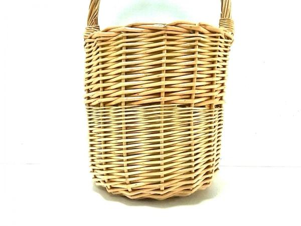 Cachellie(カシェリエ) ハンドバッグ美品  白×ベージュ かごバッグ ラタン×レザー