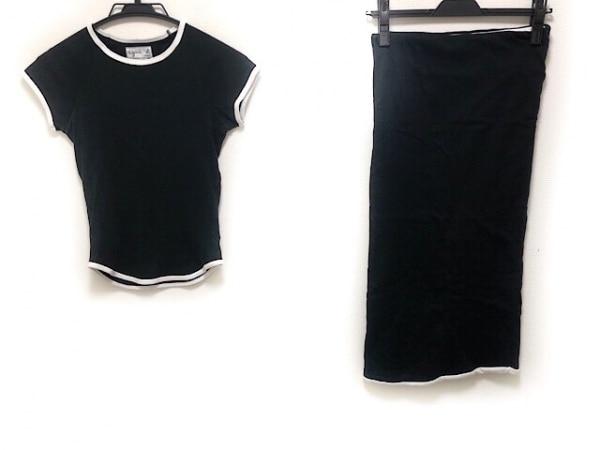 agnes b(アニエスベー) スカートセットアップ サイズ1 S レディース 黒×白