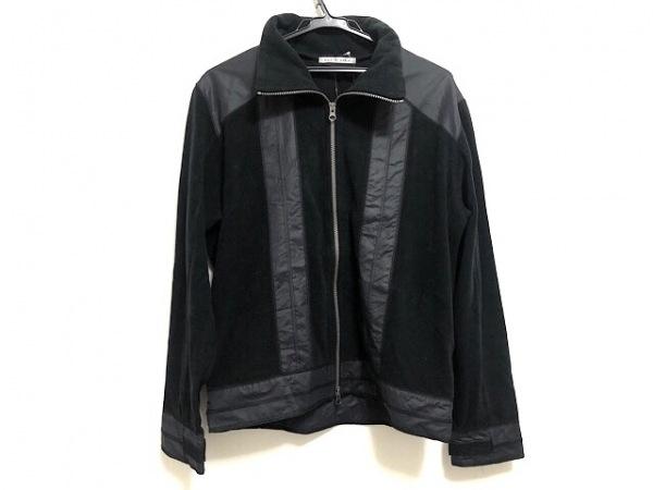 ヒールクリーク ブルゾン サイズ50 メンズ 黒 春・秋物/異素材切替/ダブルジップ