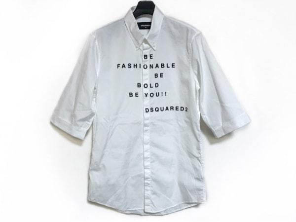 DSQUARED2(ディースクエアード) 半袖シャツ サイズ46 S メンズ美品  アイボリー×黒