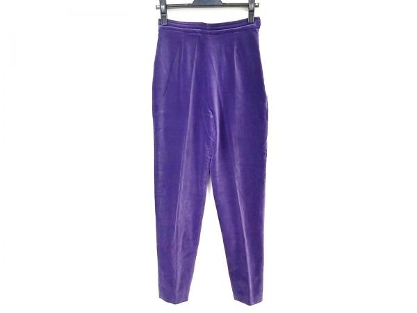 PAULEKA(ポールカ) パンツ サイズ38 M レディース パープル ベロア