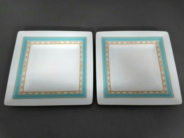 Noritake(ノリタケ) プレート新品同様  白×ライトブルー×ピンク 陶器