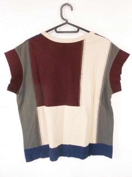 SCYE(サイ) 半袖Tシャツ サイズ38 M レディース ボルドー×ネイビー×マルチ