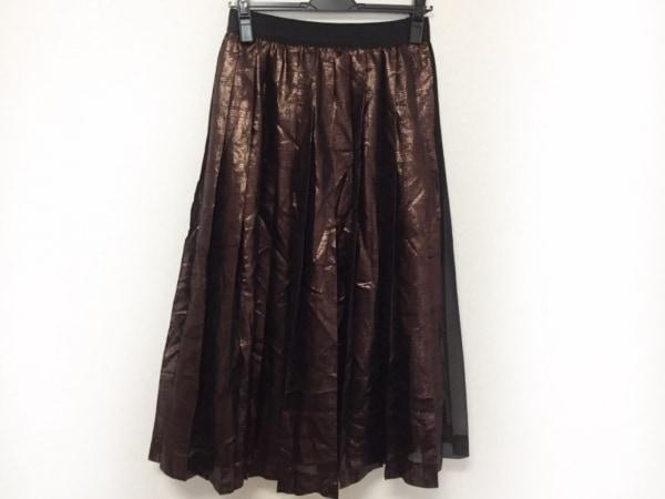 MUVEIL(ミュベール) ロングスカート サイズ38 M レディース美品  黒×ライトブラウン