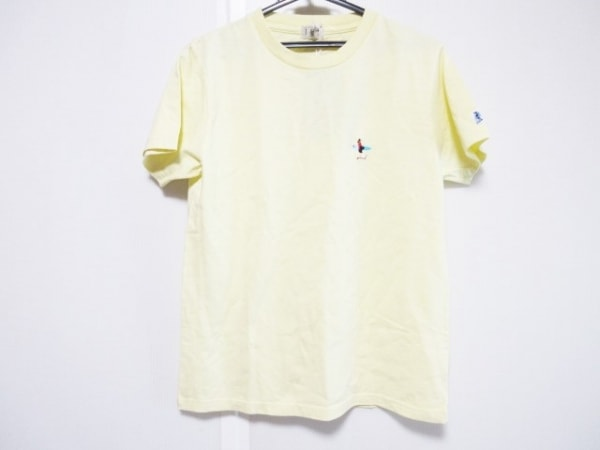 TES(テス) 半袖Tシャツ サイズSMALL S メンズ美品  イエロー×ブルー×マルチ