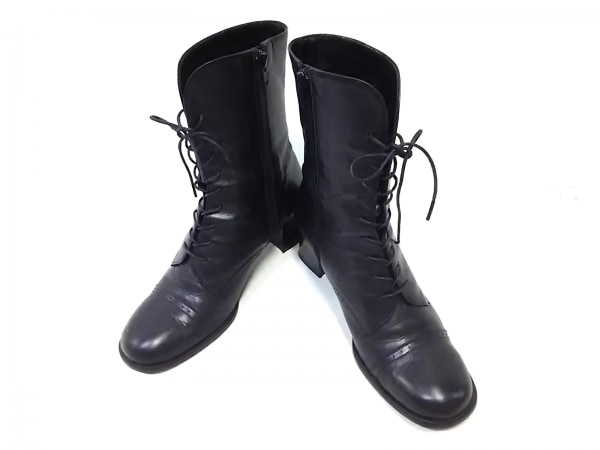 ing(イング) ブーツ 24 レディース 黒 レザー