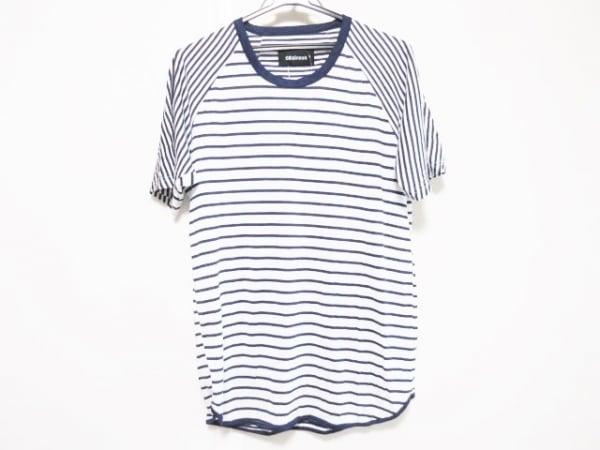 08SIRCUS(08サーカス) 半袖Tシャツ サイズ3/50 メンズ ネイビー×白 ボーダー