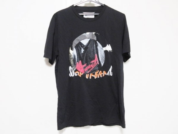 MARTIN MARGIELA(マルタンマルジェラ) 半袖Tシャツ サイズ48 L メンズ 黒×マルチ