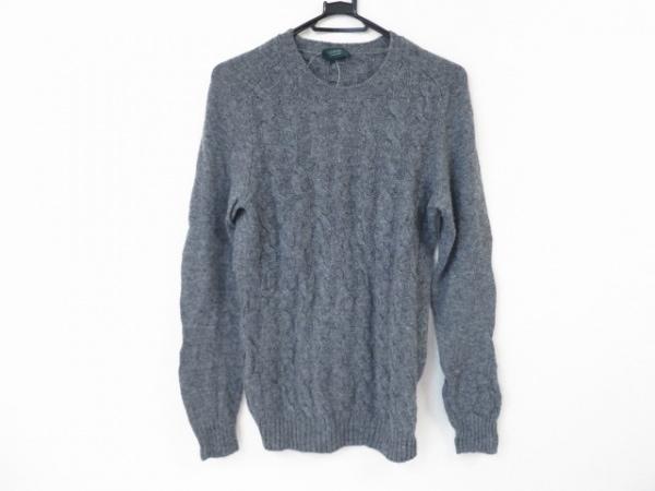 ZANONE(ザノーネ) 長袖セーター サイズ48 XL メンズ美品  グレー
