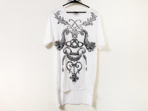 ヴィヴィアンウエストウッドマン 半袖Tシャツ サイズ46 XL メンズ美品  白×黒