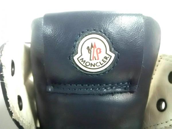 MONCLER(モンクレール) スニーカー 39 メンズ ダークネイビー ハイカット レザー