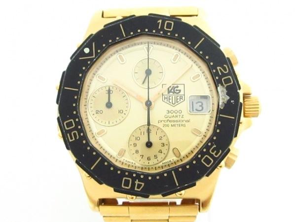 タグホイヤー 腕時計 プロフェッショナル200 237.406 メンズ クロノグラフ ゴールド