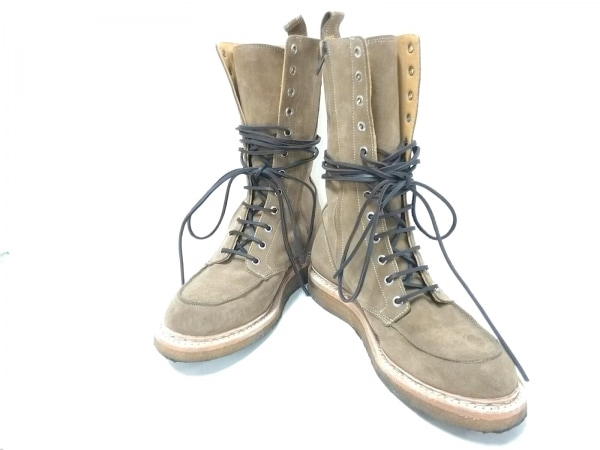 BALMAIN(バルマン) ブーツ 42 メンズ ブラウン スエード