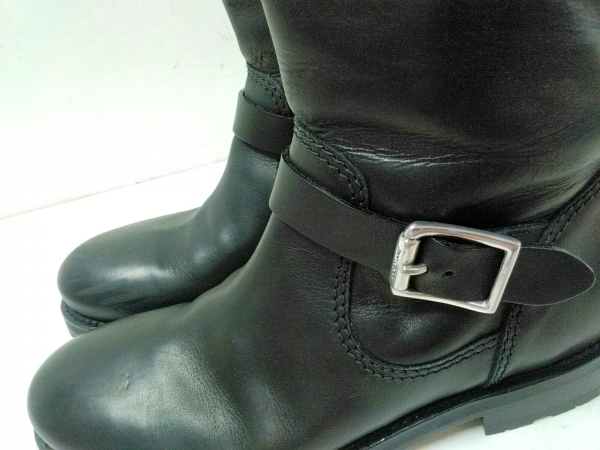 JIMMY CHOO(ジミーチュウ) ブーツ 43 メンズ 黒 エンジニアブーツ レザー