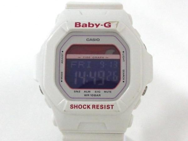 カシオ 腕時計 Baby-G BLX-5600 レディース ラバーベルト 白×パープル×ピンク