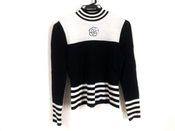 エムズグレイシー 長袖セーター サイズ38 M レディース美品  アイボリー×黒