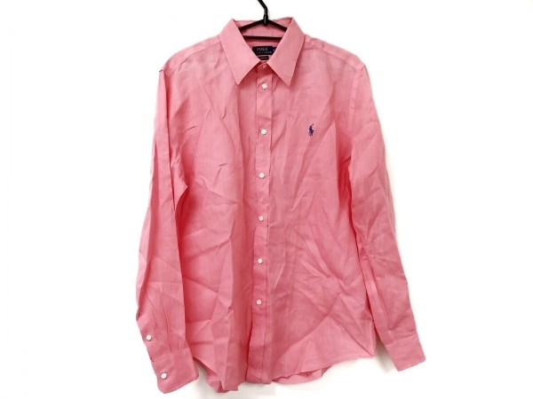 POLObyRalphLauren(ポロラルフローレン) 長袖シャツ サイズM メンズ ピンク