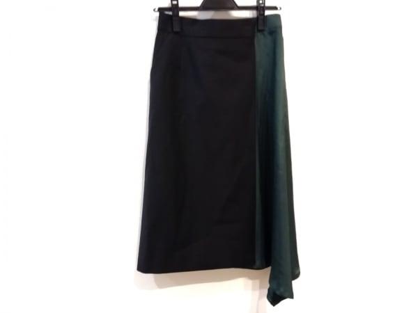 MUVEIL(ミュベール) 巻きスカート サイズ36 S レディース 黒×グリーン