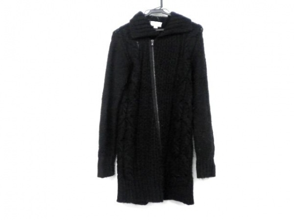 DIESEL(ディーゼル) コート サイズS レディース 黒 ニット/冬物