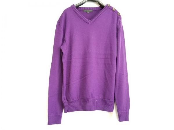 WOOYOUNGMI(ウーヨンミ) 長袖セーター サイズ46 XL メンズ美品  パープル