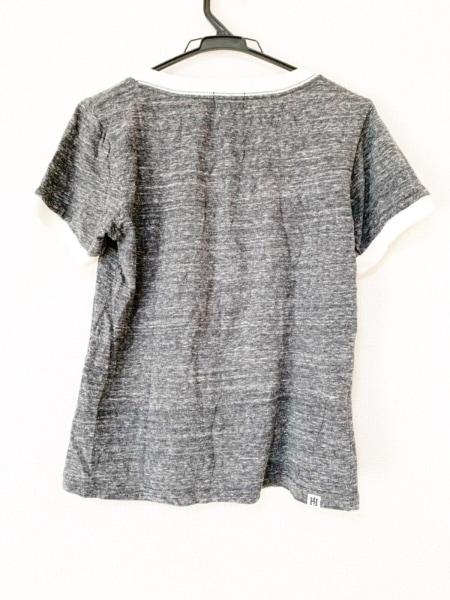 ヒステリックグラマー 半袖Tシャツ サイズフリー レディース ダークグレー×白